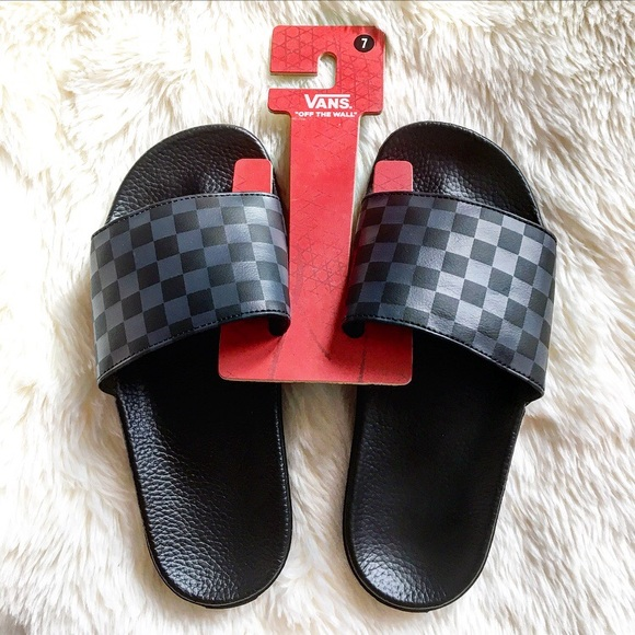 7273ebdbe9c0 Vans Checkerboard Slide Sandals